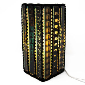 Square film lamp shade