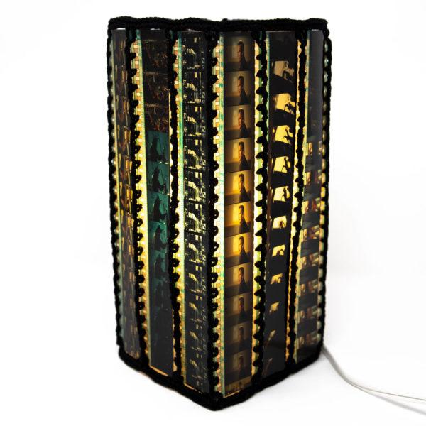 Square film lamp shade