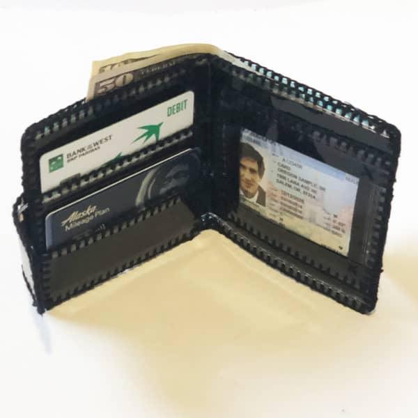 Bi-fold wallet inside