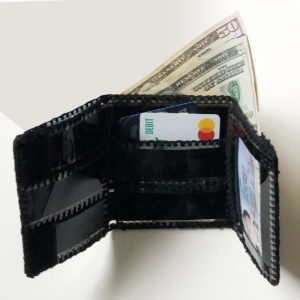Mens trifold film strip wallet